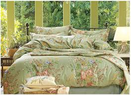 luxury green fl bedding set 100 egyptian cotton sheets quilt duvet cover bed bedsheet king queen size linen american 4pcs in bedding sets from home