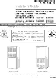 Nfpa 54 Gas Sizing Chart Trane Furnace Heater Gas Manual L0810524