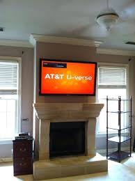 mounting tv over fireplace hiding cables into brick install above gas