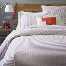 bed ticking we west elm