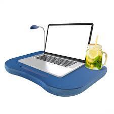 Laptop Lap Desk Portable With Foam Cushion Led Desk Light And Cup Holder By Northwest Blue Walmart Com