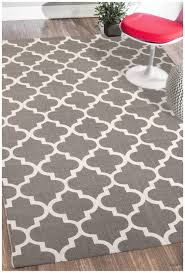 rugsville moroccan trellis gray cotton dhurrie rug 21194