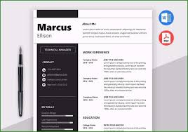 Download Free Modern Resume Templates For Word Free Modern Resume Templates For Word Stunning Modern Resume
