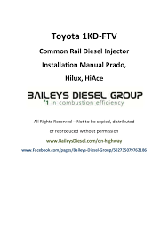 toyota 1kd ftv common rail diesel injector installation manual toyota 1kd ftvcommon rail diesel injectorinstallation manual prado hilux hiaceall rights reserved
