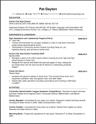 How To Write A High School Resume The Small Town Top College Blog