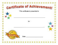 Printable Achievement Certificates Free Printable Award Certificates For Kids School Stuff Award