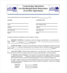 sample cleaning contract agreement 43 building contract agreement template ms word construction
