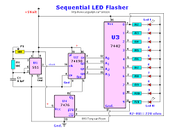 sequential led flasher circuit wiring diagrams sequential led flasher