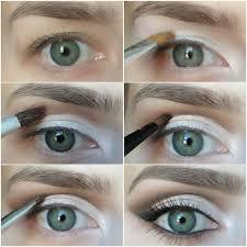 white eyeshadow hooded eyes