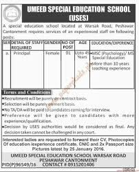 umeed special education school jobs dawn jobs ads  umeed special education school jobs dawn jobs ads 21 2016