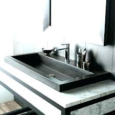 trough sinks with two faucets