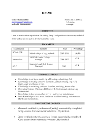 Ccna Certified Resume Sample Free Download New Mechanical ...