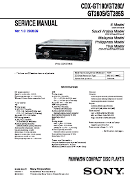 sony cdx gt24, cdx gt28 service manual free download Sony Cdx Gt180 Wiring Diagram cdx gt180, cdx gt280, cdx gt280s, cdx gt285s service sony cdx gt210 wiring diagram