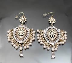 vintage pink pearl perfect chandelier earring 14