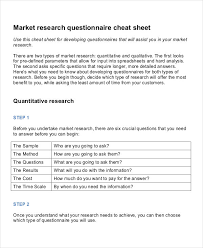 presentation survey examples 7 marketing research questionnaire examples samples