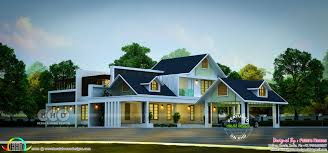 Sloping Roof Design Ideas Sloping Roof Contemporary Style Stunning House Kerala Home