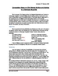 comparison essay on city friends advice and advice to a teenage page 1 zoom in