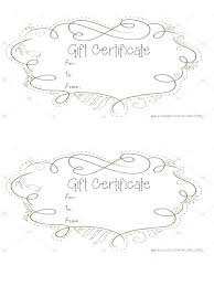 free printable blank gift certificate fill in certificates the