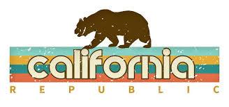 Ретро медведь флага искусства дизайна <b>футболки</b> Калифорния ...