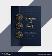 Weding Card Designs Luxury Wedding Invitation Card Design In Dark And