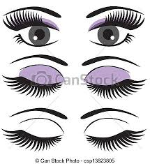 makeup eyes closed clipart