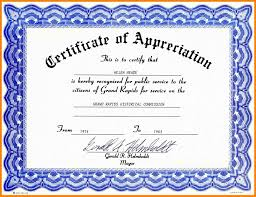 free templates for certificates of appreciation certificates of appreciation free templates elegant best ideas