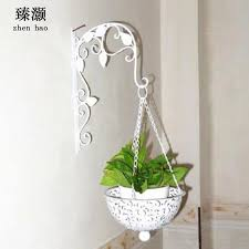 zhen hao wall baskets continental iron creative decorative wall hanging basket flower indoor flower on wall