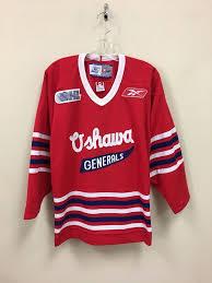 K1 Hockey Jersey Size Chart Vintage Oshawa Generals Ohl Junior Hockey Reebok Jersey Size