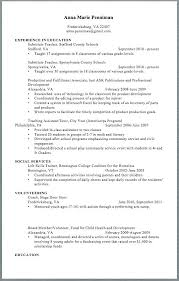 Sample Middle School Teacher Resume Free Teacher Resume Templates ...
