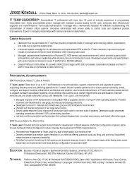 Resume Template Leadership Resume Examples Free Career Resume