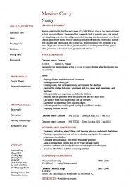 Examples Of Nanny Resumes Amazing Sample Nanny Resume Musiccityspiritsandcocktail