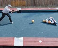 life size pool table bowling ball billiards