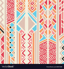Bohemian Pattern Impressive Tribal Ethnic Colorful Bohemian Pattern Royalty Free Vector