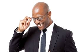 Image result for photo of black man with bad eyesight