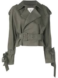 anine bing aria cropped trench jacket