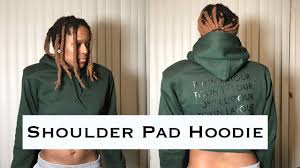 Designer Shoulder Pads Streetwear Designer Shoulder Pads Hoodie The Hoodie
