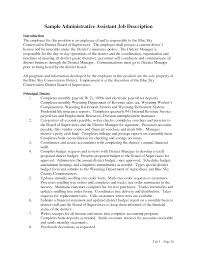 Administrative Assistant Job Description Resume 60 Administrative Assistant Duties Resume SampleBusinessResume 5