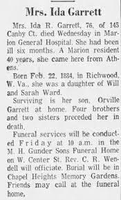 Obituary for Ida R. Garrett (Aged 76) - Newspapers.com
