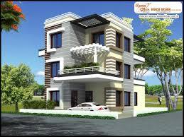 5 bedroom, modern triplex (3 floor) house design. Area: 192 sq