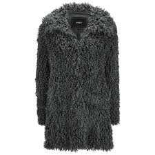 unreal fur women s de fur fluffy jersey lined faux fur coat charcoal free uk delivery over 50