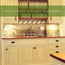 How To Install Backsplash Tile In Kitchen Enchanting How To Make A Mosaic Backsplash