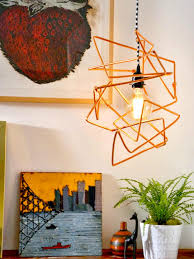 diy modern lighting. hula hoop chandelier diy modern lighting