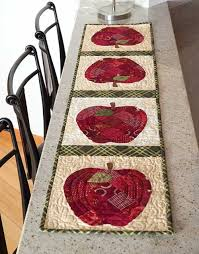 Apple Table Runner Kit-- The rich reds of this easy to piece 54