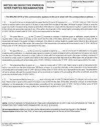 Mpep 2666 50 Examiner Issues Notice Of Defective Paper In Inter