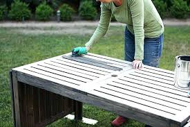 painting wood patio furniture painted outdoor color 1 wooden garden out