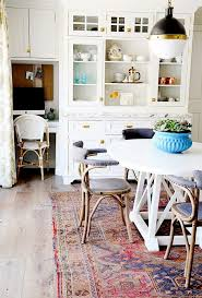 dining room endearing persian area rug on dining set featuring pleasing round chairs and painted