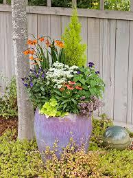 garden planters. Brilliant Purple Container Garden Planters L
