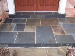 flagstone patio after repair is completed