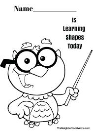 Shapes Coloring Pages For Preschoolers If You Are A Or Preschool ...