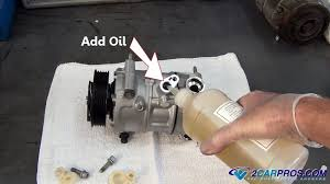 car air conditioning compressor. step 4: preparing the new compressor car air conditioning h